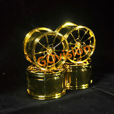 Custom Lot of 4 Metallic Golden Wheels for Lego 42056 Technic Porsche 911 GT3
