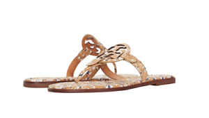 Tory Burch NEW Miller Welt Cork New Ivory Confetti Flat Sandals MANY SIZES $198