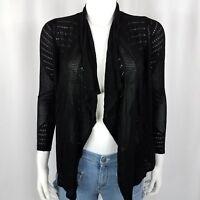 INC Women's Sweater Size P/P Longsleeve Cardigan Open Front Black