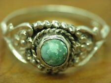 835 Silver Ring with Turquoise Decorations/Real Silver/Rg 58/2,4g