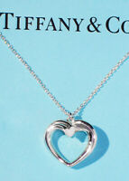 Tiffany & Co Paloma Picasso Tenderness Heart Sterling Silver Pendant Necklace