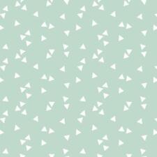 Baumwollstoff Dreiecke Mint METERWARE Webware Popeline Stoff