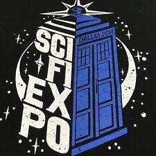 Sci Fi Expo Dallas 2014 Graphic T-Shirt, XL, EUC