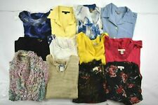 Wholesale Lot of 12 Womens Medium 8-10 Casual Business Short Sleeve Blouses Tops