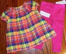 POLO RALPH LAUREN BABY GIRLS BRAND NEW AUTHENTIC  2Pc DRESS SET SUIT Sz 18M, NWT
