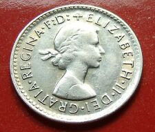 Light Golden Tone AU NICE 1961 Australia Silver Threepence of Queen Elizabeth II