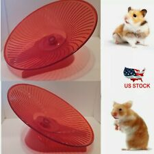 Flying Silent Spinner Saucer Exercise Jogging Running Wheel Hamsters Gerbil Rats
