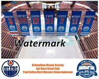 NHL Edmonton Oilers Rexall Place Retired Jersey Color Pic 8 x 10 Photo Picture