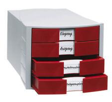 Schubladenbox rot 4 Schubladen geschlossen BLITZVERSAND Ablagebox Kein Porto