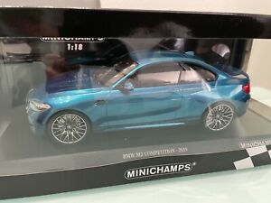 BMW M2 Competition 2019 bluemetallic limited in 1:18
