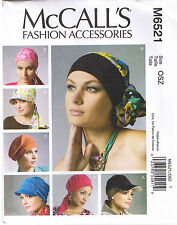 Misses Womens Headbands Scarf Head Wraps Hat Chemo Sewing Pattern