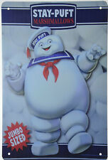 """Stay Puft Marshmallows Ghostbusters Movie Retro Metal Tin Sign 8x12"""" NEW"""