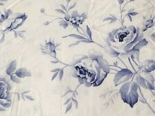 Beautiful Crisp Fresh Blue & White Floral Roses Double Duvet Cover V&A