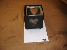 Glass and Metal Heart Candle Holder