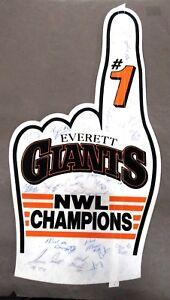 1986 EVERETT GIANTS NWL CHAMPIONS 24 autographs MATT WILLIAMS baseball pennant