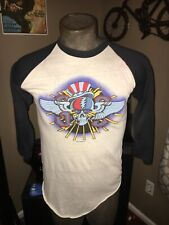 Vintage Orig Grateful Dead quarter sleeve shirt 1982 Summer Tour Size Small