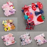 6Pcs/Set Baby Girls Hair Clips Bow Kids Infant Cute Mini Barrettes Mix Hairpins