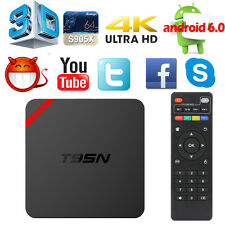 S905X 1G+8G MX+ Android6.0 Quad Core 4K WIFI Smart TV Box Free Sports Movies