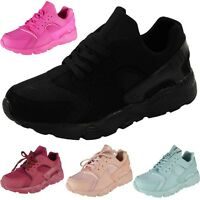 Kids Girls Running Trainers Womens Fitness Gym Sports Comfy Lace Up Shoes Size