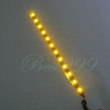 "2Pcs Amber/Yellow 12 LEDs 30cm/11.8"" 5050 SMD LED 12V DIY Strip Light Waterproof"