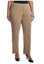 NWT Kim Rogers Polyester KnitSide Zip Straight Leg Pants Tan 20W Avg. $50.