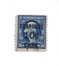 US K5  Shanghai China 10c on 5c used