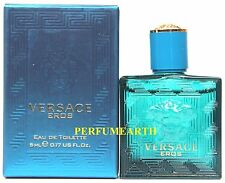 Versace Eros By Versace 0.17oz./5ml Edt Mini Splash For Men New In Box