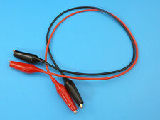 16AWG 50cm Silicone Test Leads w/ 43mm Copper Crocodile Clips (1 Pair Red+Black)