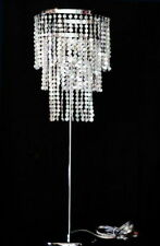 Faceted Iridescent Crystal Beads Chandelier Table Lamp