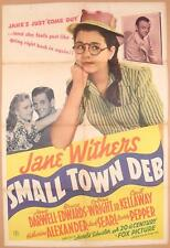SMALL TOWN DEB ~ 1941 one sheet movie poster ~ JANE WITHERS
