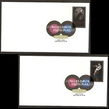 US 4692-4693 Miles Davis Edith Piaf DCP (set of 2) FDC 2012