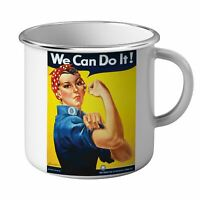 Mug Emaillé Métal We Can Do It Women Femme War Guerre