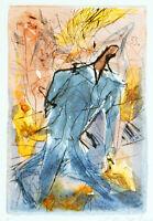 DDR-Kunst 1989. Kolorierte Radierung Dagmar RANFT-SCHINKE (*1944 D) handsigniert