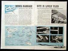 WWII Military Barrage Kite 4' Wingspan 1944 vintage How-To build PLANS