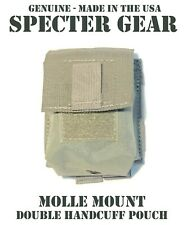 SPECTER GEAR 391 FOLIAGE MOLLE MOUNT DOUBLE HANDCUFF CASE US MILITARY POUCH SWAT