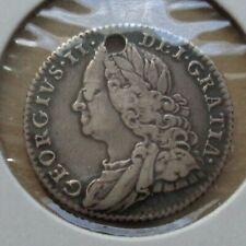 1758 Great Britain UK GB 6p six pence silver coin KM# 582.2 - George II