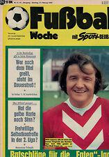 Fußball Woche 8/1975,Bundesliga,1.FC SAARBRÜCKEN POSTER,Matra Simca Bagheera