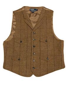 Vintage Polo Ralph Lauren Tweed Weste L RRL