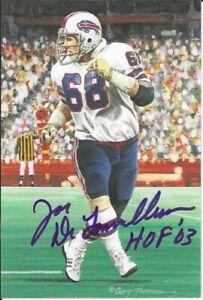 Joe DeLamielleure  Buffalo Bills  Autographed Goal Line Art Card Football HOF