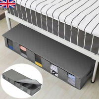 Large Capacity Under Bed Storage Box Bag 5 Grid Underwear Clothe Shoes Organizer