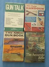 Vintage Lot of 4 books ARCO & WINCHESTER pub. HANDGUN RIFLE GUN ex-lib hunting