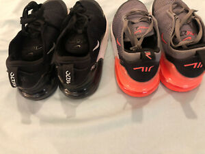 2X Girls Nike Air 270 Trainers Size 2, EU 34