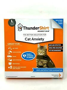 Thundershit Cat Anxiety Jacket Solid Gray, Large