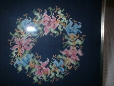 2 Needleworked Pictures, 1 Very Fine Needlepoint, Framed, The Other A Little Hou