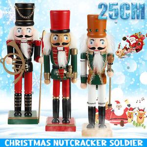 6pcs 10cm Vintage Wooden Nutcracker Statue Table Hanging Toy Decor Xmas Gift