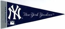 "NEW YORK YANKEES~BASEBALL TEAM SOUVENIR~BRAND NEW MINI 9"" MLB LICENSED PENNANT"