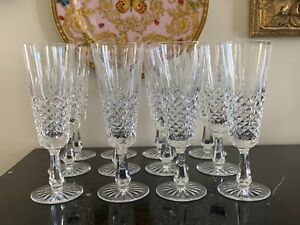 Vintage Waterford Kenmare Fluted Champagne Glasses Set of 12
