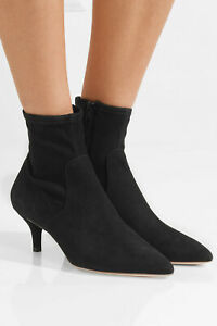 BNIB Black Suede Ankle Boots by Loeffler Randall Size UK 4 / US 7