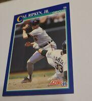 1991 Score  #95 Cal Ripken HOF Baltimore Orioles NM uer/Genius spelled Genuis
