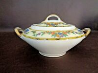 Vintage Victoria China Czechoslovakia Sugar Bowl With Lid (Cat.#11T002)